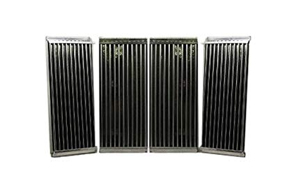 Stamped Stainless Steel Cooking Grid Replacement for Select Charbroil and Kenmore Gas Grill Models, Set of 4